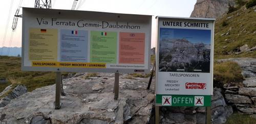 Startpunkt Klettersteig